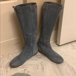 Marc Jacobs suede blue boots Italian